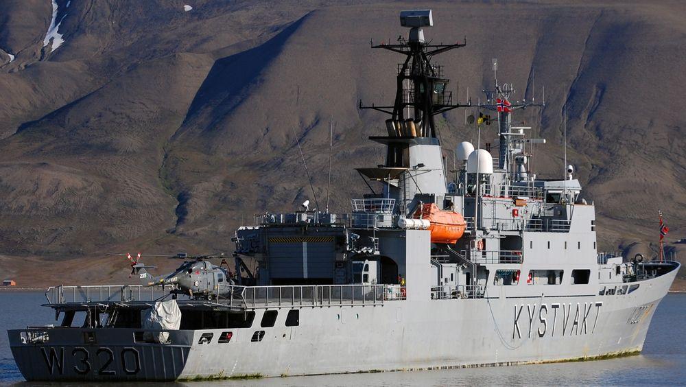 KV Nordkapp ble utsatt for radarstråling fra USS Farragut. 60 av 66 i besetningen ble utsatt.