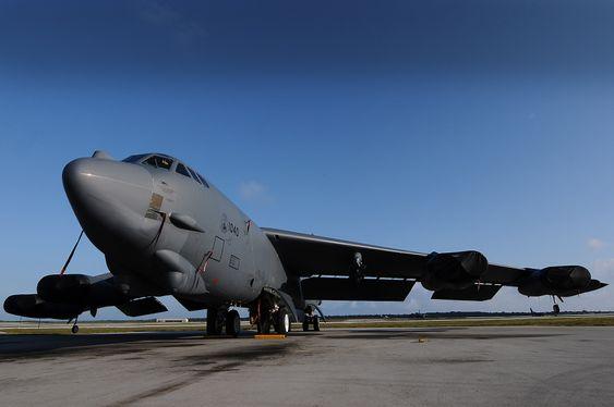 Her er 61-040 tidligere i år på flybasen Andersen helt nord på stillehavsøya Guam. Til vanlig er flyet stasjonert på Minot AFB i Nord-Dakota.