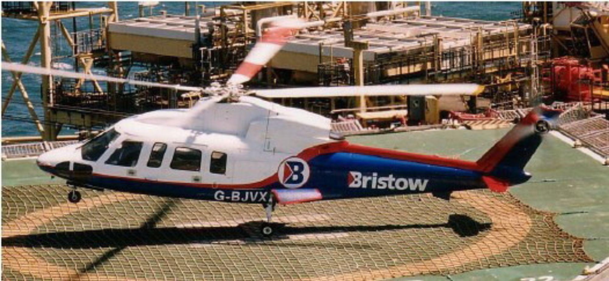 Dette Sikorsky S-76-helikopteret fra Bristow havarerte på vei til Norwich i 2002 og tok livet av alle elleve om bord. Et av bladene på hovedrotoren sviktet. Trolig hadde det vært en voksende sprekk på rotorbladet i tre år før ulykken skjedde, uten at dette ble oppdaget.