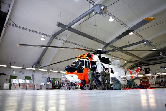 330-skvadronen opererer i dag tolv Westland Sea King-helikoptre. Dette er fra Rygge flystasjon.