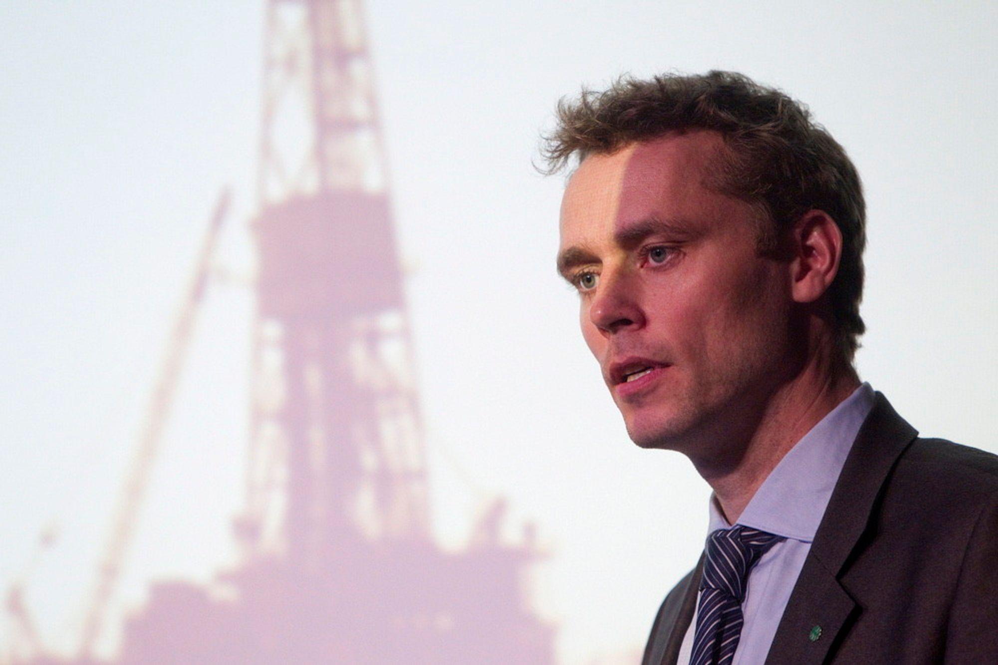 MELKEKU: Olje-og energiminister Ola Borten Moe kan registrere at oljefondet bidrar med 125 milliarder til statsbudsjettet.