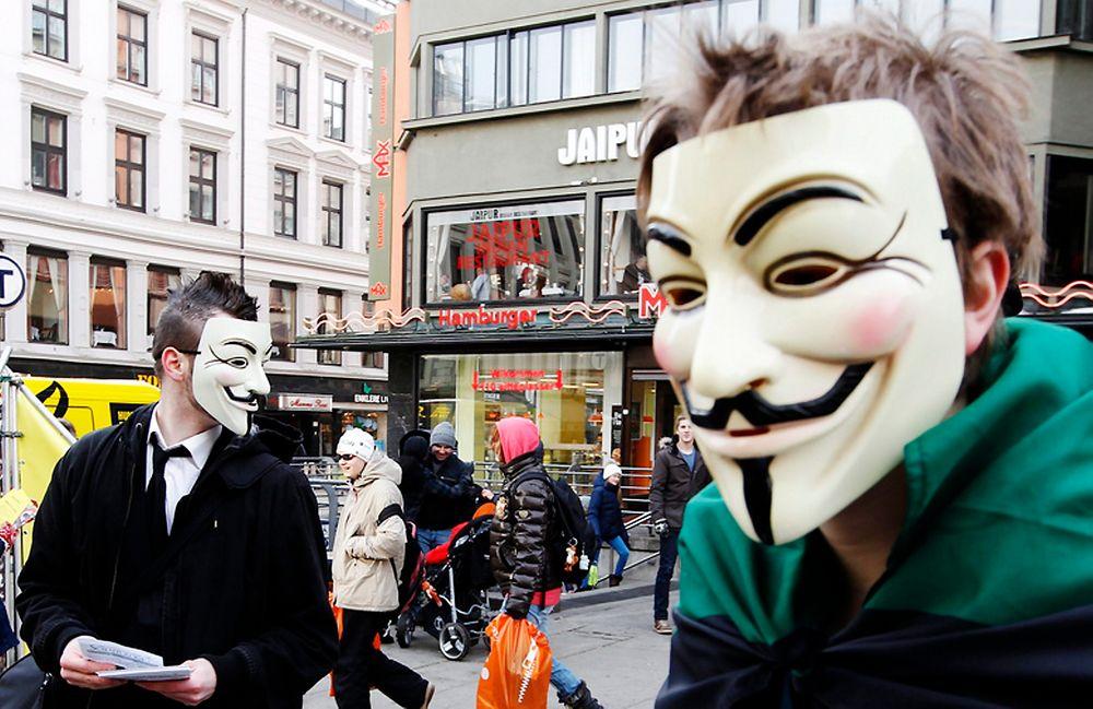 ANONYMOUS: Hackergruppen Anonymous har slått ut hjemmesidene til en rekke svenske samfunnsinstitusjoner.