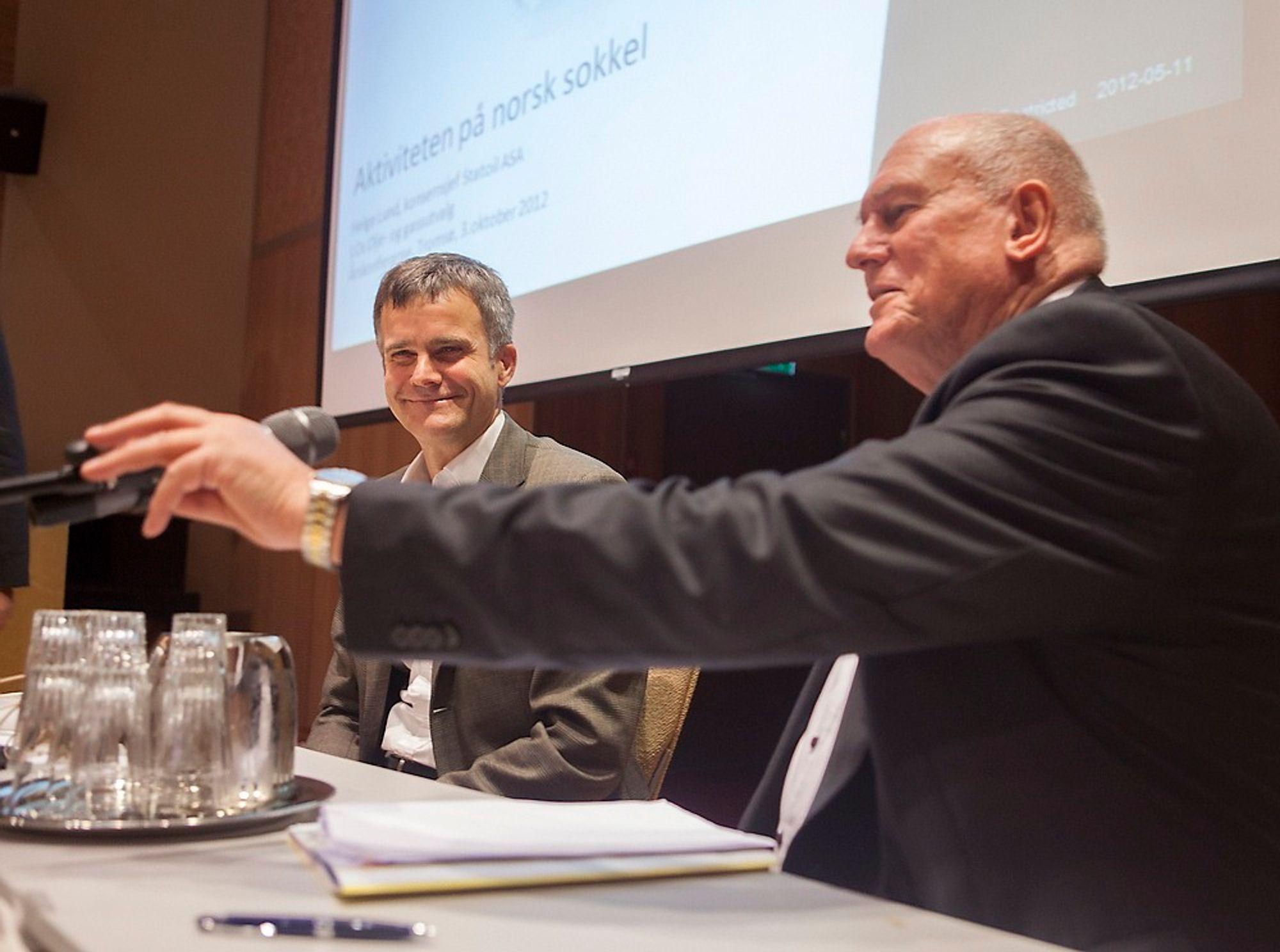 Det var rørende enighet mellom Statoils konsernsjef Helge Lund og LO-leder Roar Flåthen da de innledet årskonferansen til LOs olje og gassutvalg i Tromsø torsdag.