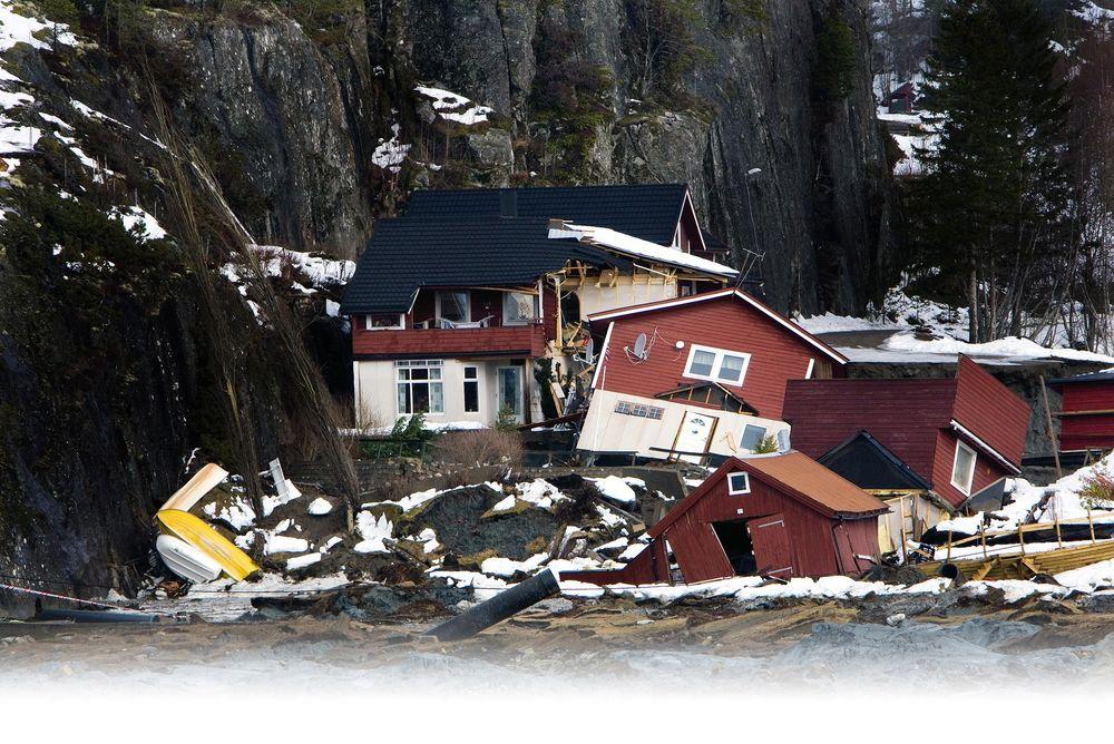 Kvikkleireskredet i Kattmarka i Namsos i mars 2009 tok med seg fire hus og seks hytteeiendommer.