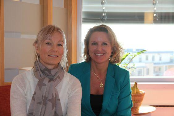 Liv Kari Hansteen (til høyre) og Kathrine Gjerde