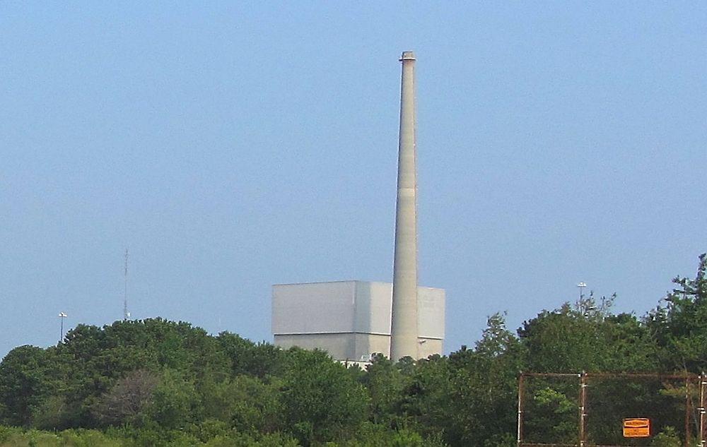 Dette atomkraftverket i New Jersey er satt i alarmberedskap som følge av orkanen Sandy.