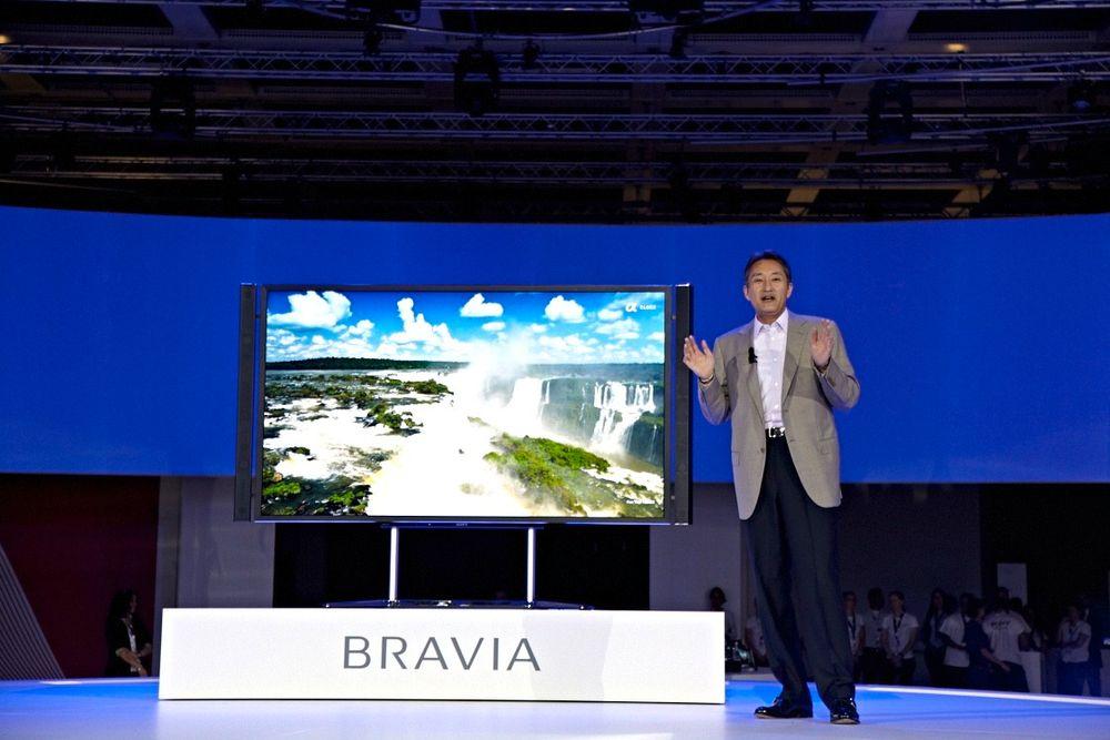 BARNET SKAL HETE ULTRA: Sjefen for Sony møtte opp på IFA i Berlin i august for å introdusere selskapets nye 4K-TV. Nå må de døpe den om til Ultra HD.
