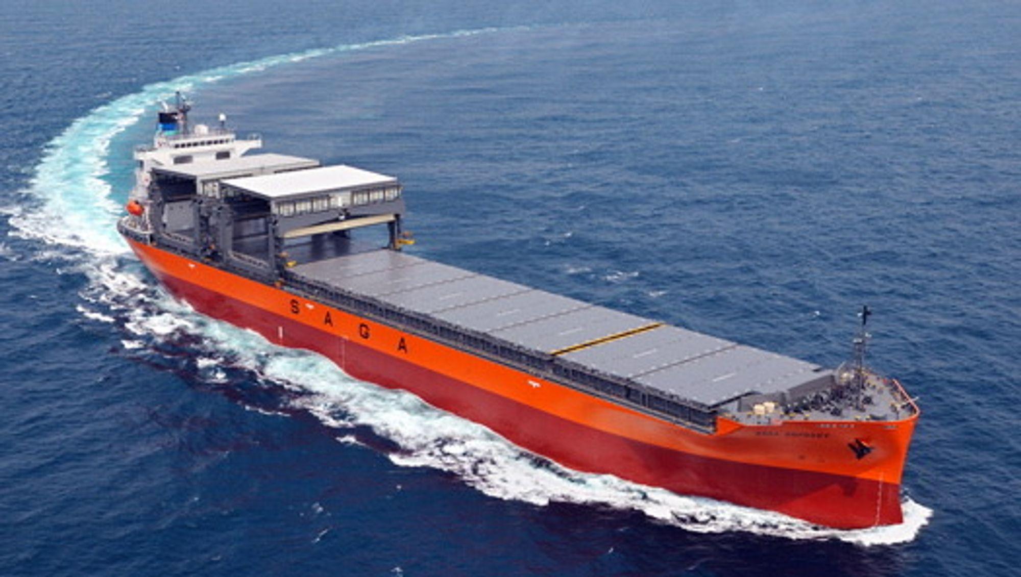 OPEN HATCH: Saga Shipholding Norway, som har en flåte bulkskip med stor lukeåpning, open hatch, bestiller ballastvannrensesystem til 24 skip.
