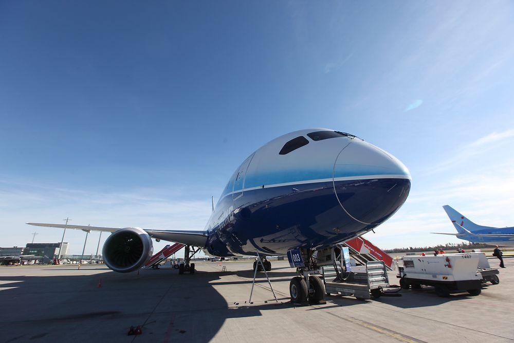 Boeing 787 Dreamliner på Oslo lufthavn Gardermoen.