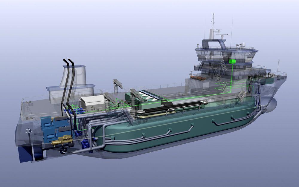 SUPERBRØNNBÅTEN: Det nye brønnbåtkonseptet er designet med tanke på maksimal hygiene og minimalt energiforbruk.