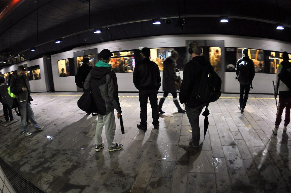 MINDRE PLASS: På Nationaltheatret stasjon vil det bli trangt når Oslo vokser til én million inbyggere i 2040.