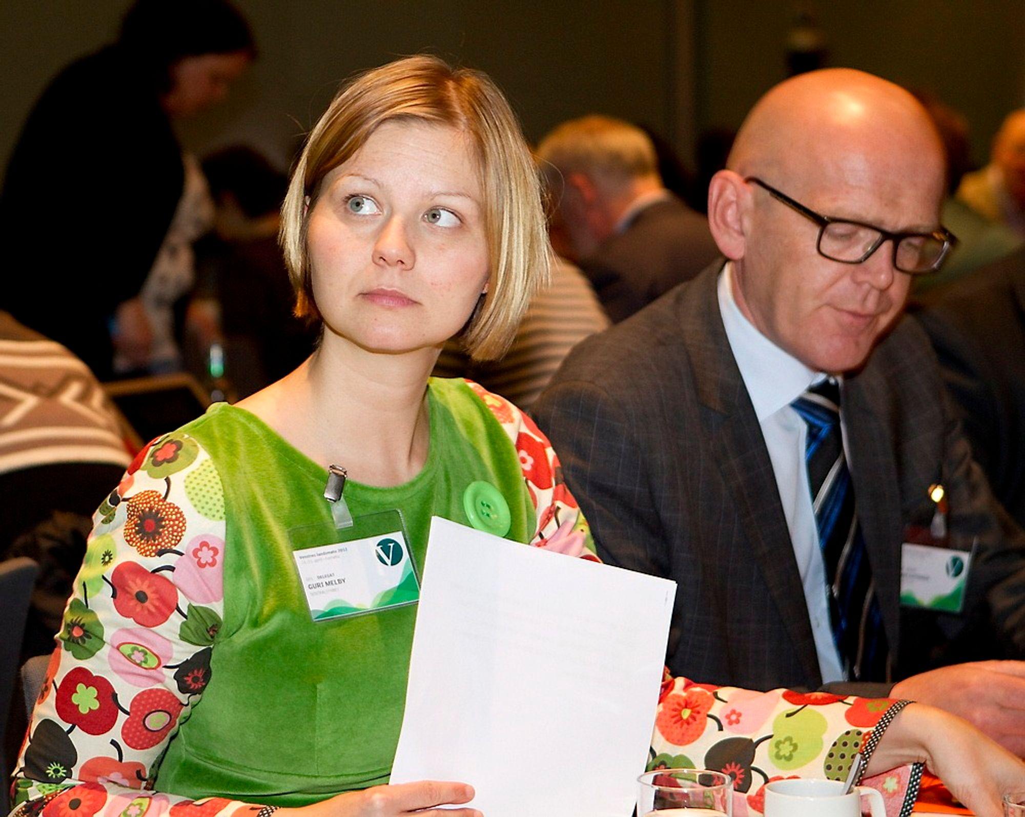 Guri Melby på Venstres landsmøte