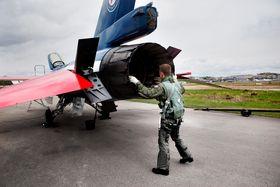F-16 på Kjeller.