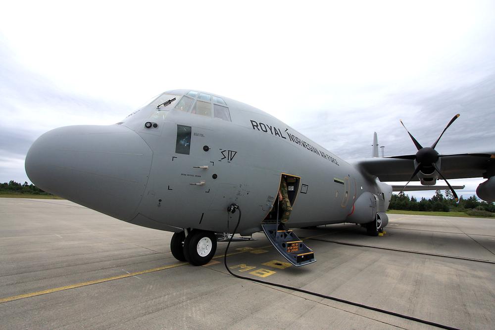 """C-130J Super Hercules, registreringsnummer 5630 """"Siv"""", som forsvant underveis fra Evenes til Kiruna 15. mars 2012."""