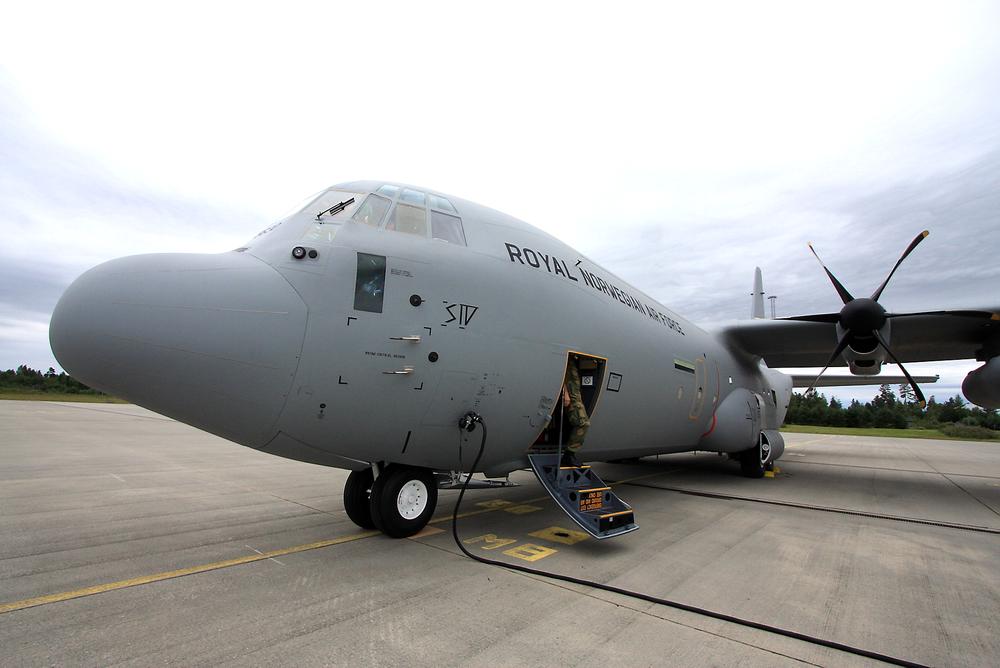 """ERSTATTES: C-130J Super Hercules, registreringsnummer 5630 """"Siv"""", styrtet i fjellveggen Kebnekaise i Sverige i mars. Forsvaret får et nytt Hercules-fly allerede i september."""