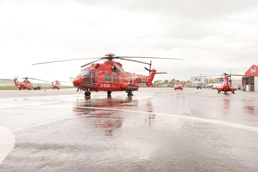 Det var dette helikopteret som fikk problemer med oljetrykket på vei ut fra Aberdeen torsdag.