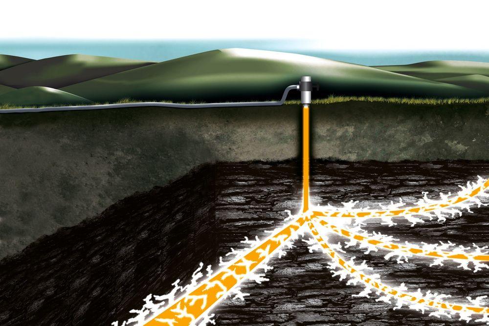 I utvinning av skifergass er ett av stedene der hydraulisk frakturering benyttes.