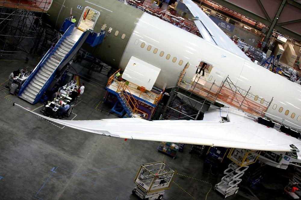 En Boeing 787 Dreamliner under produksjon.
