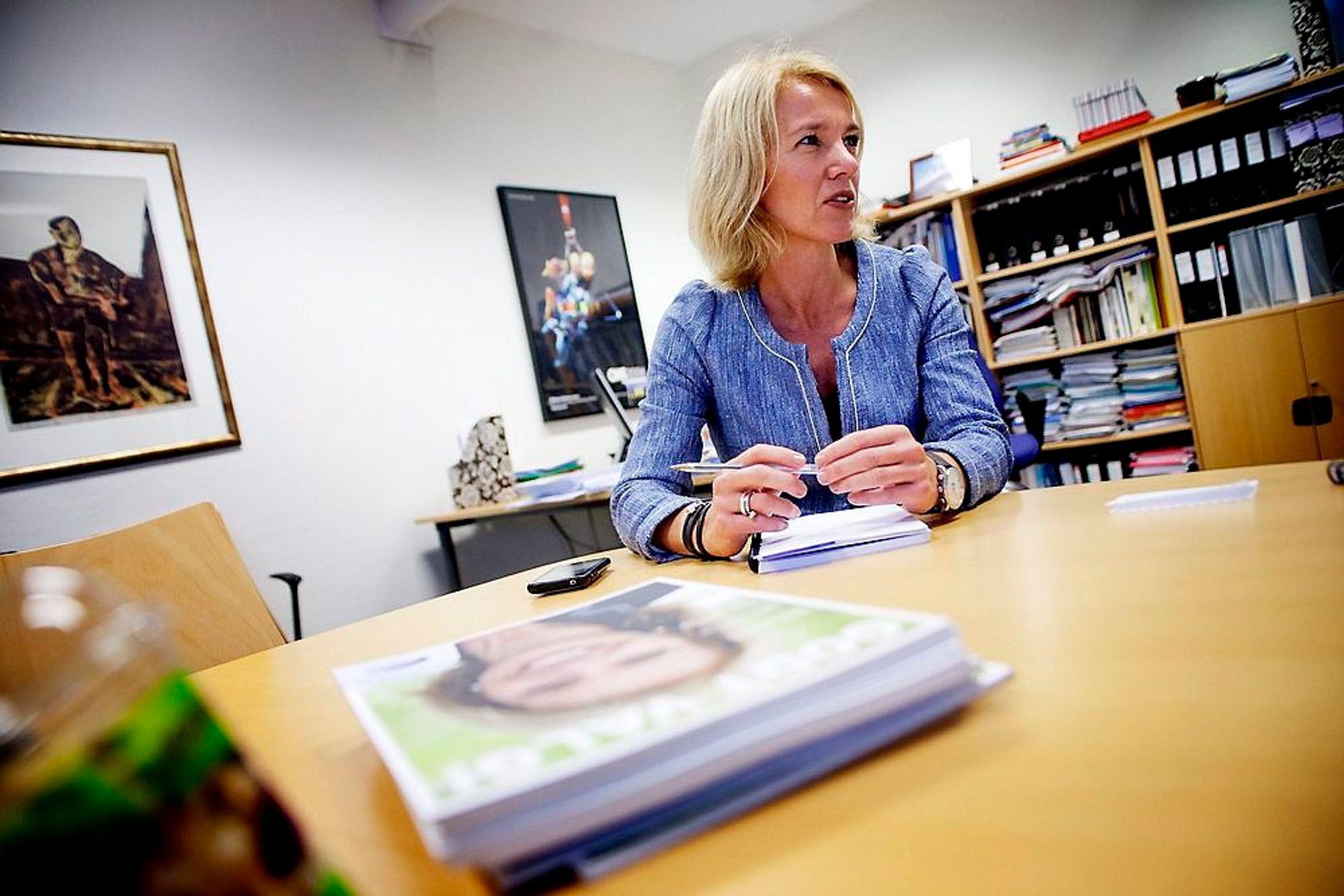 PÅ PLASS I HOUSTON: Christine Sagen Helgø.