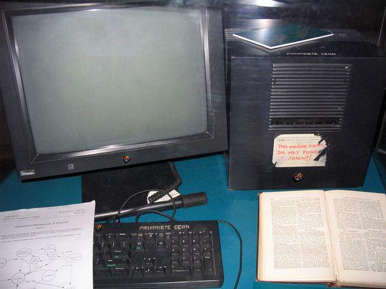 Denne NeXt-maskinen ble brukt av Tim Berners- Lee som verdens første webserver.