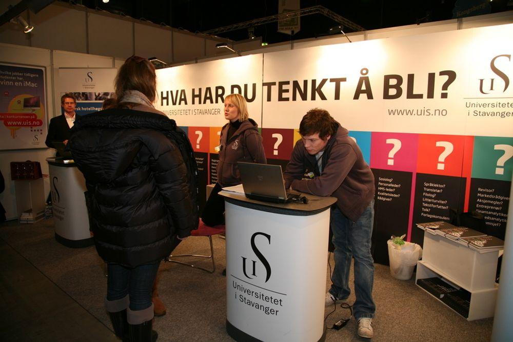 STUDIETALL: Universitetet i Stavanger har fortsatt mange studier der alle plassene ikke er fylt opp.