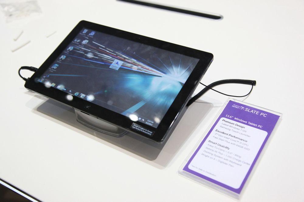 IFA: Samsung Slate PC var utstilt på dingseeldoradoet IFA i høst. Nå lanseres den i Norge.