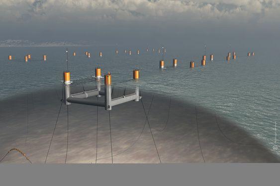 ERSTATTER DIESELAGGREGAT: Små bølgekraftverk av denne typen kan erstatte dieselbasert elforsyning i en rekke små eller mellomstore øysamfunn, håper Langlee Wave Power.