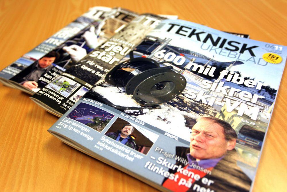 Teknisk Ukeblad øker til 307.000 lesere ukentlig.