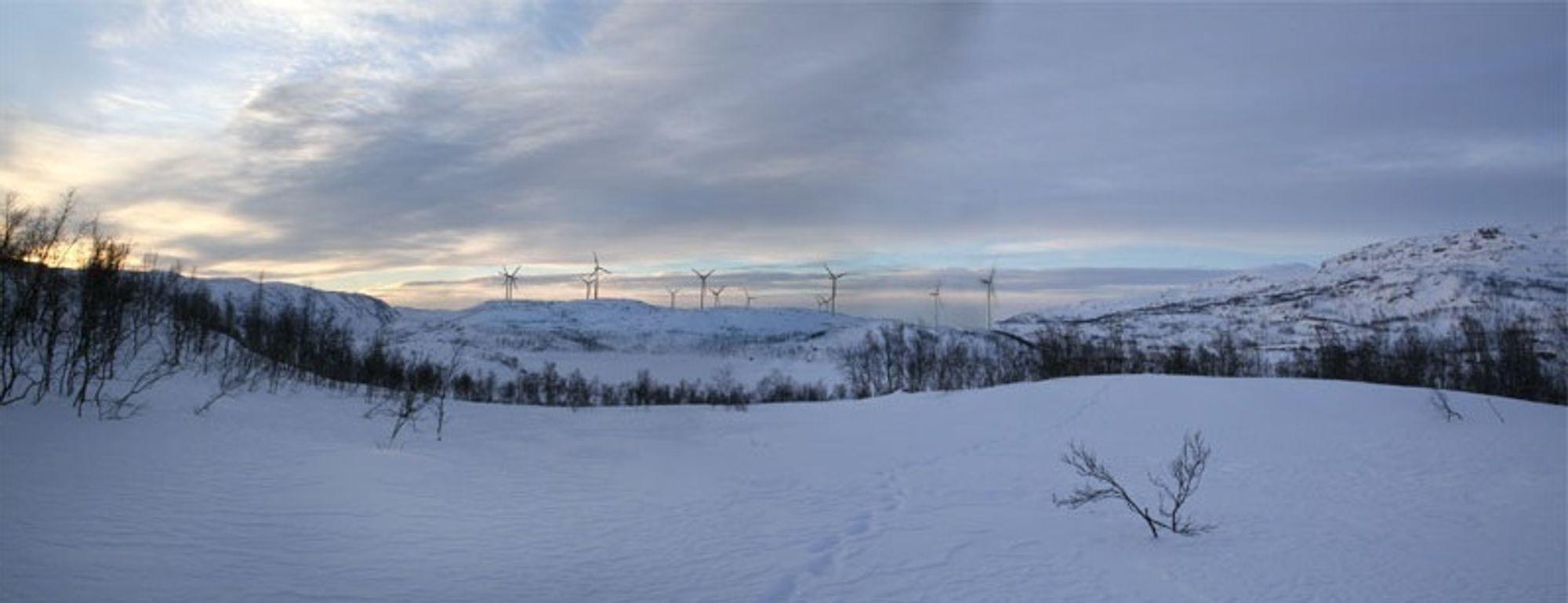 GIR STRØM: Flere vindparker som denne som skal bygges på Nygårdsfjellet i Narvik kunne ha hindret strømutkoblinger, mener fornybarorganisasjonen Norwea og selskapet Nordkraft.