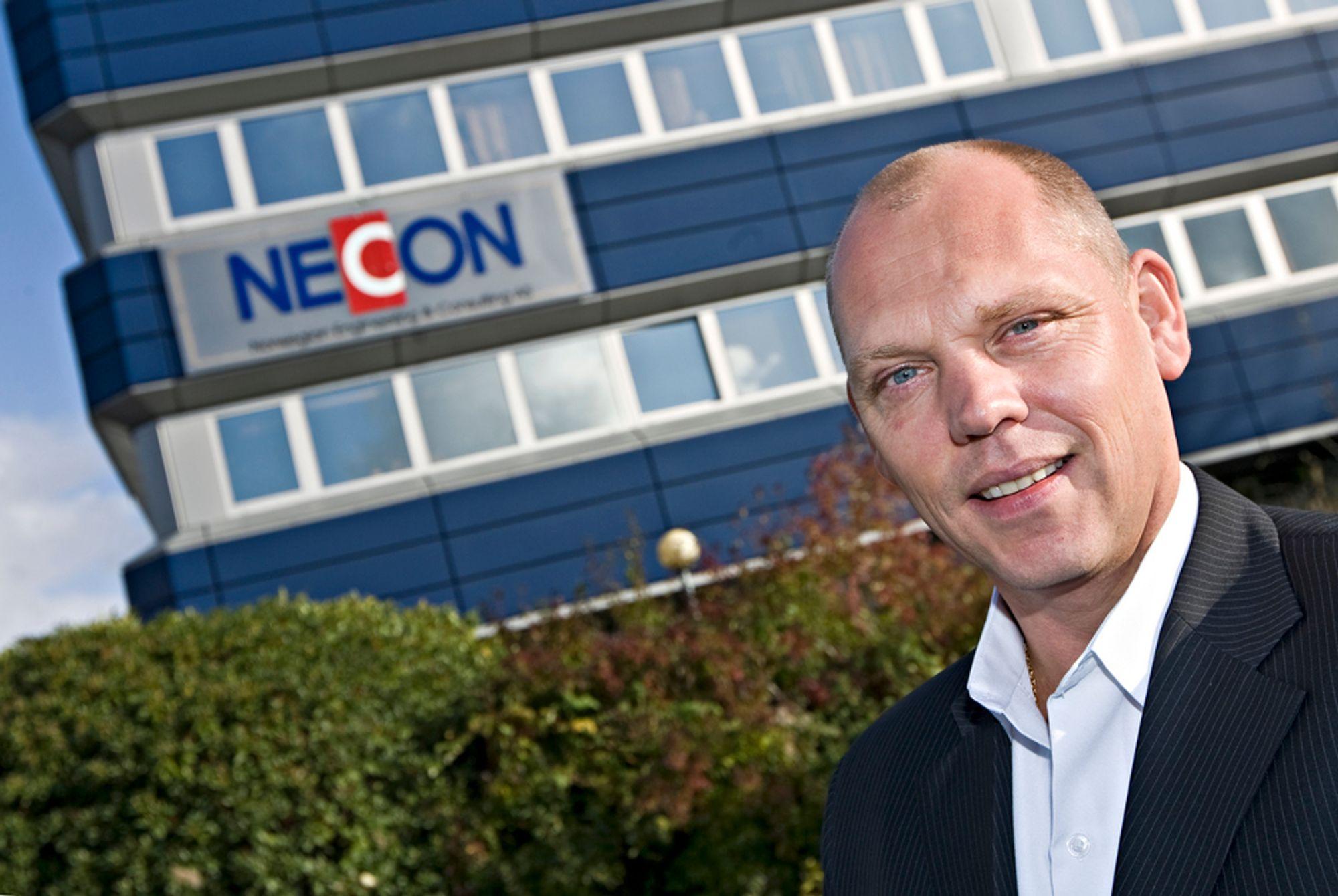 HÅPEFULL: NECONs administrerende direktør Aslak Gundersen håper og tror konkurransen kan tiltrekke seg dyktige ingeniører.