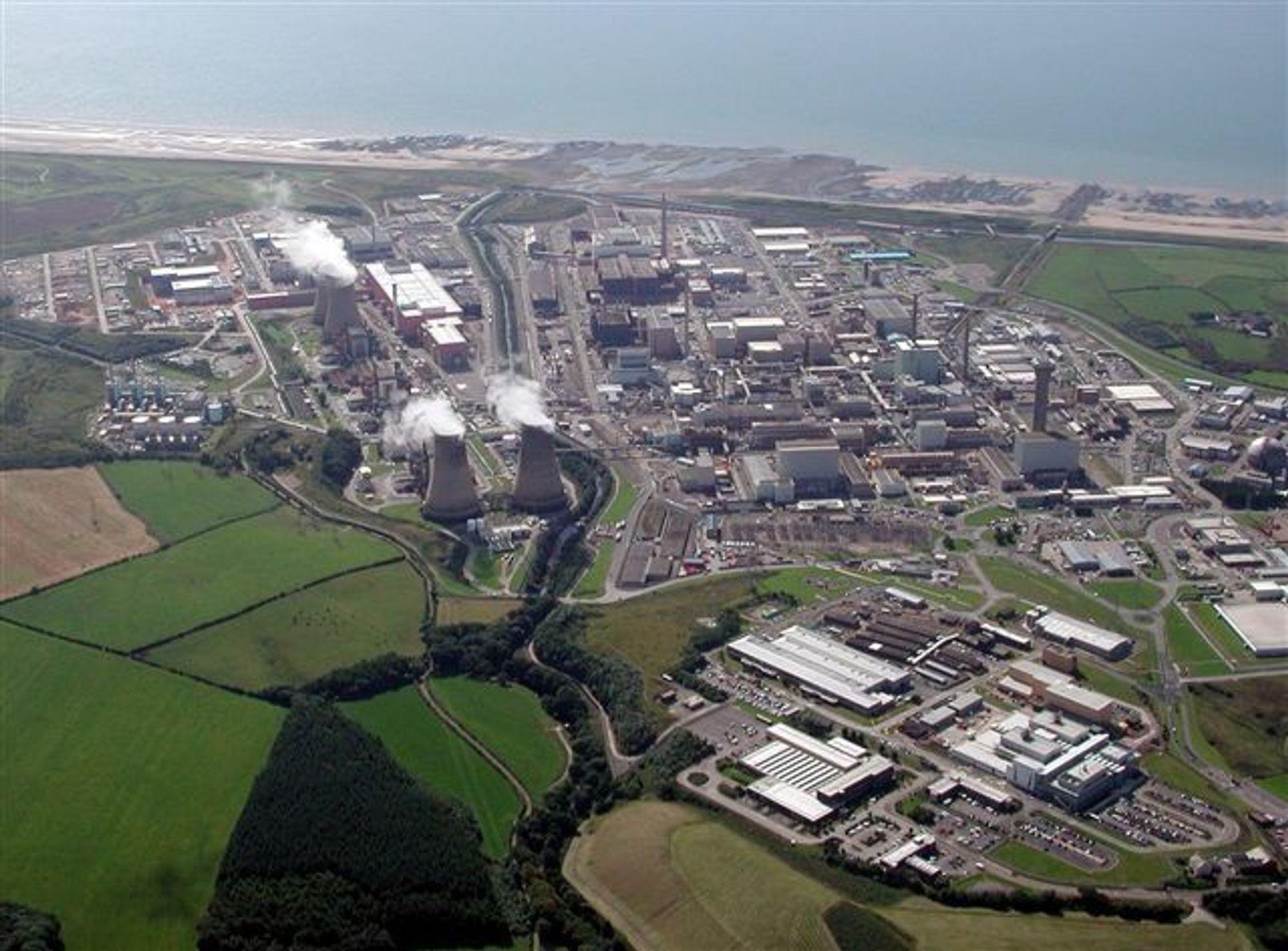 ILLE: Dersom 1 prosent av det radioaktive avfallet som er lagret i Sellafield (bildet) slipper ut i atmosfæren, kan resultatet i Norge bli syv ganger verre enn etter Tsjernobyl-ulykken i 1986.