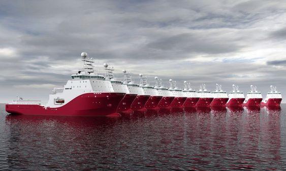 Siem Offshore har 10 store AHT-skip under bygging. Alle bygges med Vik-Sandvik 491 CD elelr 490 CD desisgn. Skipene utstyres med motorer som yter 28070 hestekrefter og med en trekkraft på 300 tonn. Skipene bygges ved Kleven Mariitme i Ulsteinvik.