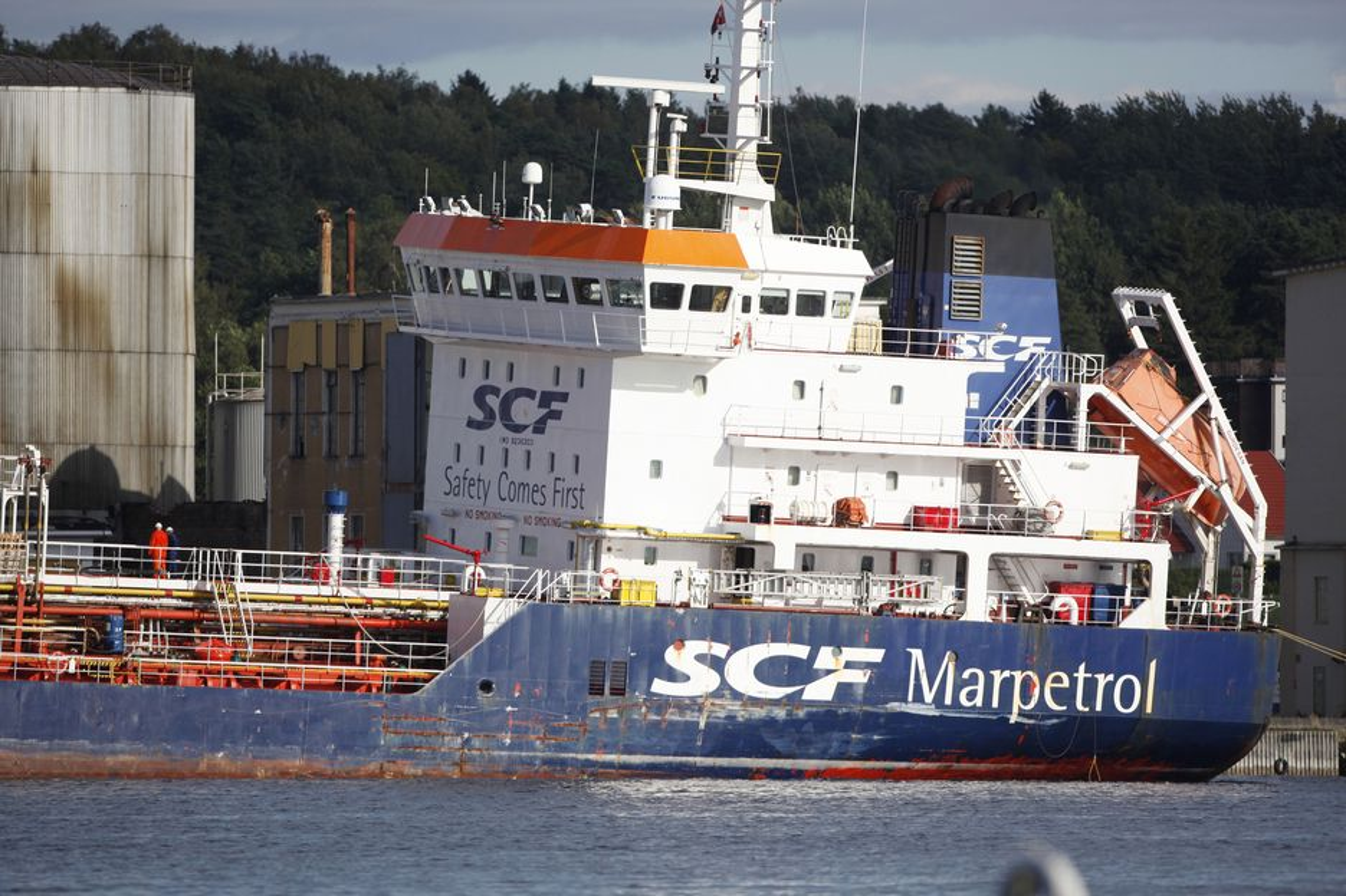 ANNEN PLAN: Skipet DVS har leid inn for å frakte det ulovlige og farlige avfallet fra Oleon i Sandefjord, ville bruke ekstra kjemikalier for å stabilsere H2S, som kan være brann- og eksplosjosnfarlig. Klif godkjente ikke kjemilaliene og anbefalte lut.