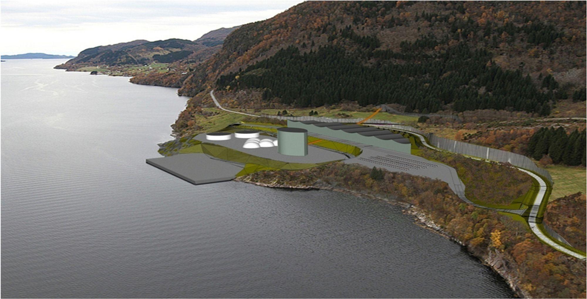 STRIDENS KJERNE: Slik kan prosessområdet på Engebø i Naustdal kan utformes i fremtiden. Spørsmålet er hvor steinmassene skal lagres.