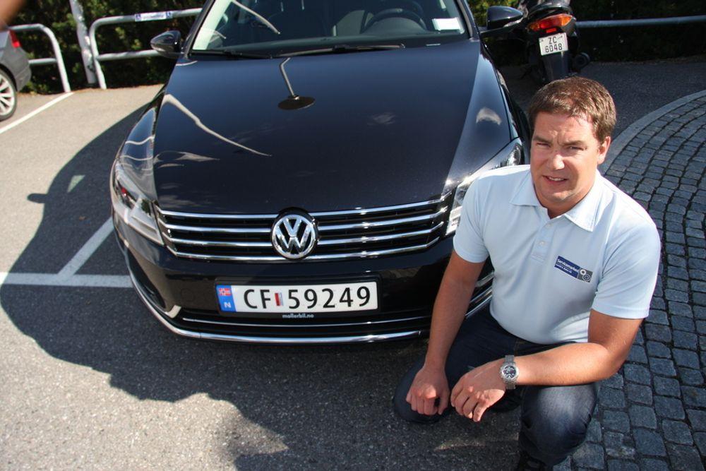 KRITISK: Teknisk sjef hos VW/Audi-importøren Harald A. Møller, Morten Ødegård, forstår ikke myndighetenes avgiftsberegning av biler som gir mindre lokal forurensing.