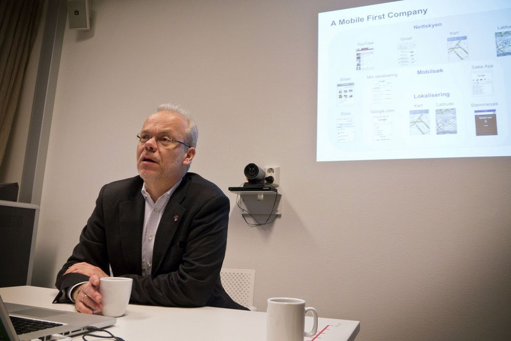 SØKESJEFEN: Den norske Google-sjefen Jan Grønbech kan fortelle oss hva nordmenn er mest interessert i gjennom året.