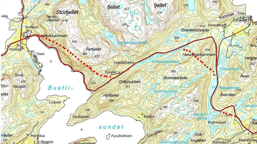 Kruse Smith skal drive tre tunneler på Laksevegen for 368,695 millioner kroner. Ill.: Statens vegvesen