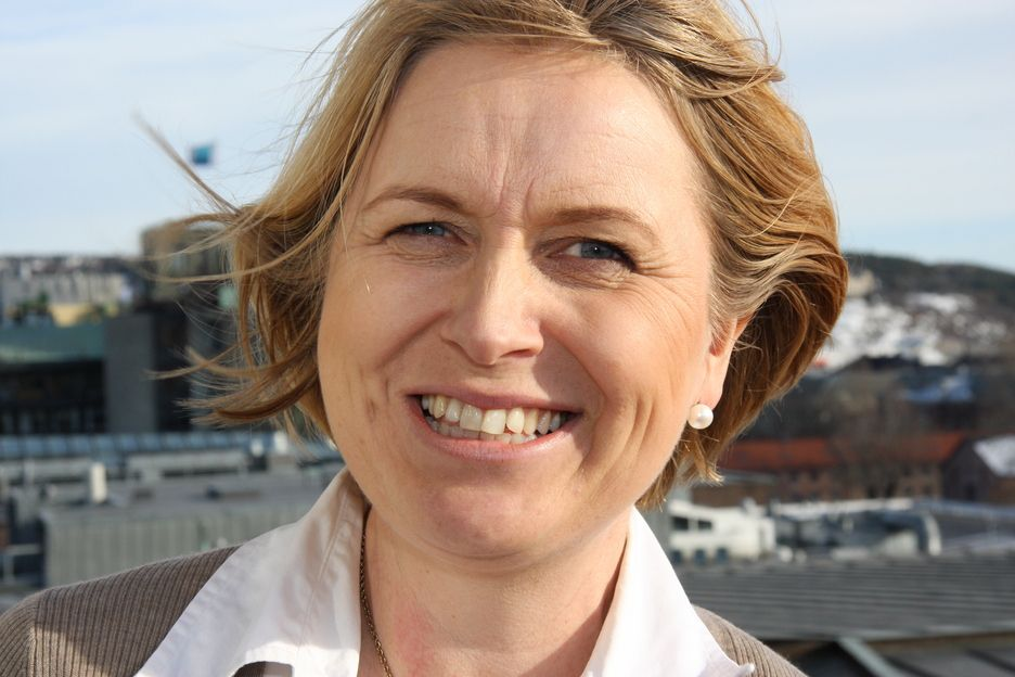 PRAGMATISK: Finansbyråd Kristin Vinje bedyrer at valget av  OPS fra hennes side er pragmatisk og ikke ideologisk motivert.  Det gir rom for nyskaping og det sikrer vedllikehold, sier hun.