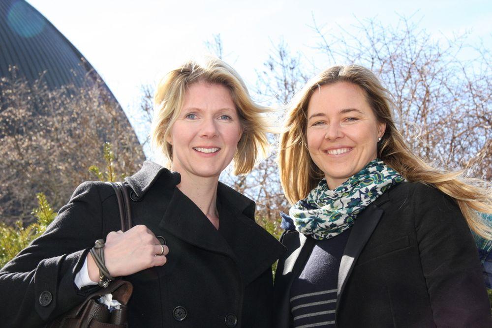 AMBISIØSE:  Vi skal ikke gå i jentefellen og være redd for risiko, bedyrer de to gründerne Janne Aas-Jakobsen (t.v) og Janicke Mathisen. Sammen skal de bruke BIM til å modernisere byggenæringen.