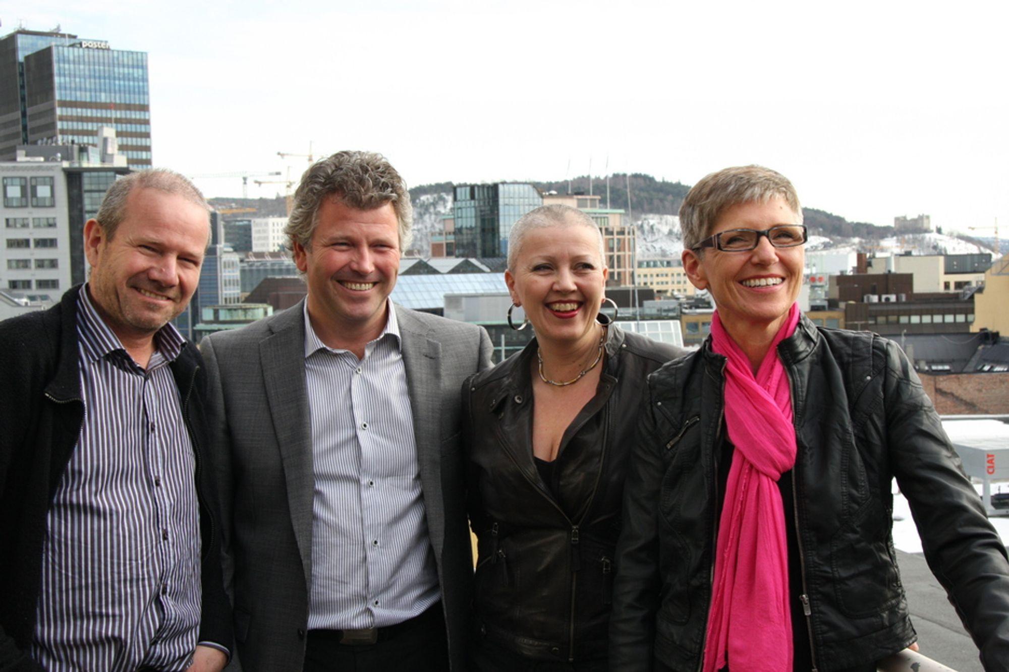 KNEKKER KODEN: For mange kommuner evner ikke å vedliekholde sine eiendommer. Nå er en veileder på plass, laget av denne gruppen. Fra venstre: Fredrik Horjen, Tor Espenes, Marrianne Stokkereit Aasen og prosjektleder Bjørg Totland.