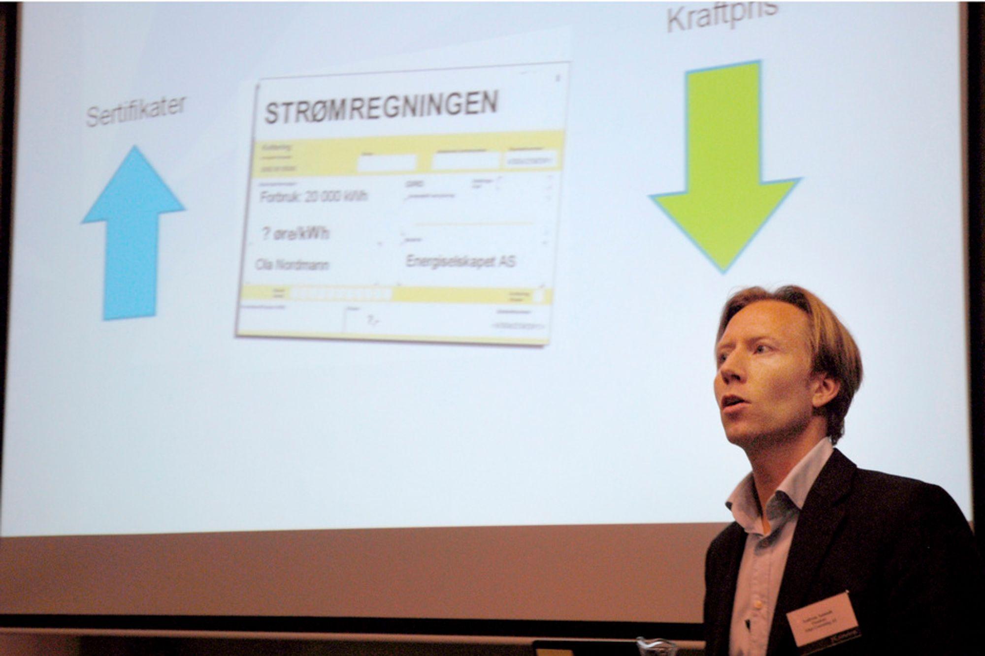 NEGATIVE KOMMENTARER: Enhver avgift møtes med forakt av forbrukerne og i nettdebattene er det utelukkende kritiske kommentarer til elsertifikatsystemet, ifølge Andreas Aamodt i Adapt Consulting.