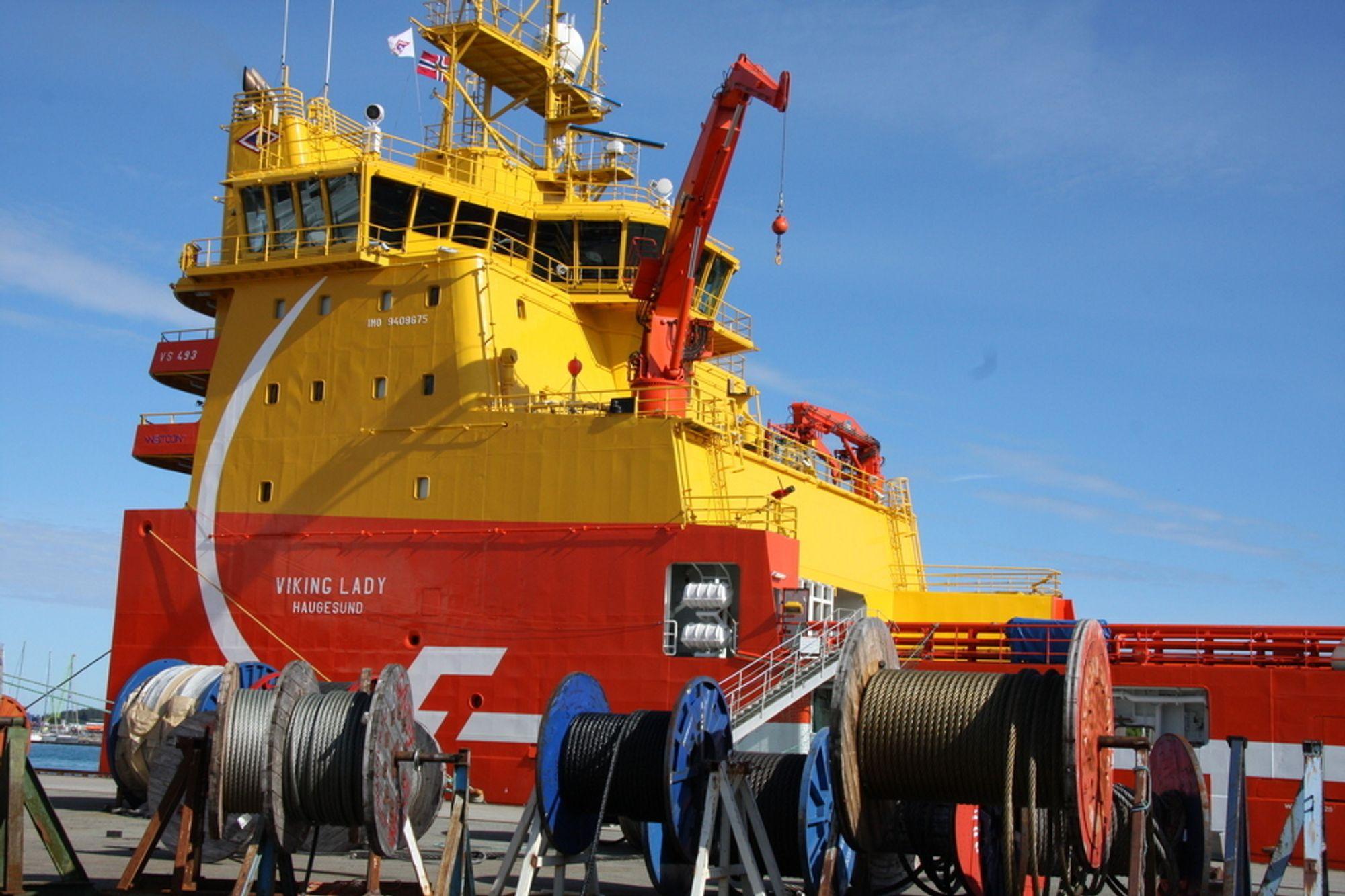 Viking Lady: Det er ikke bare den noe uvanlige plasseringen av overbygg som gjør at Viking Lady skiller seg ut: LNG-motorer, brenselcelle og batteripakke er teknologisk mer utfordrende.