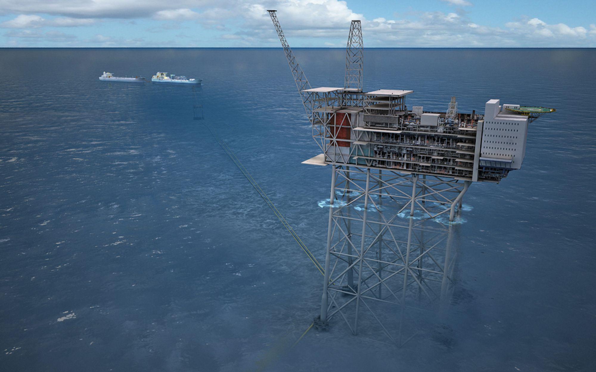 Statoil Mariner-prosjekt blir en produksjons-, bore- og boligplattform med stålunderstell og en flytende lagringsenhet.