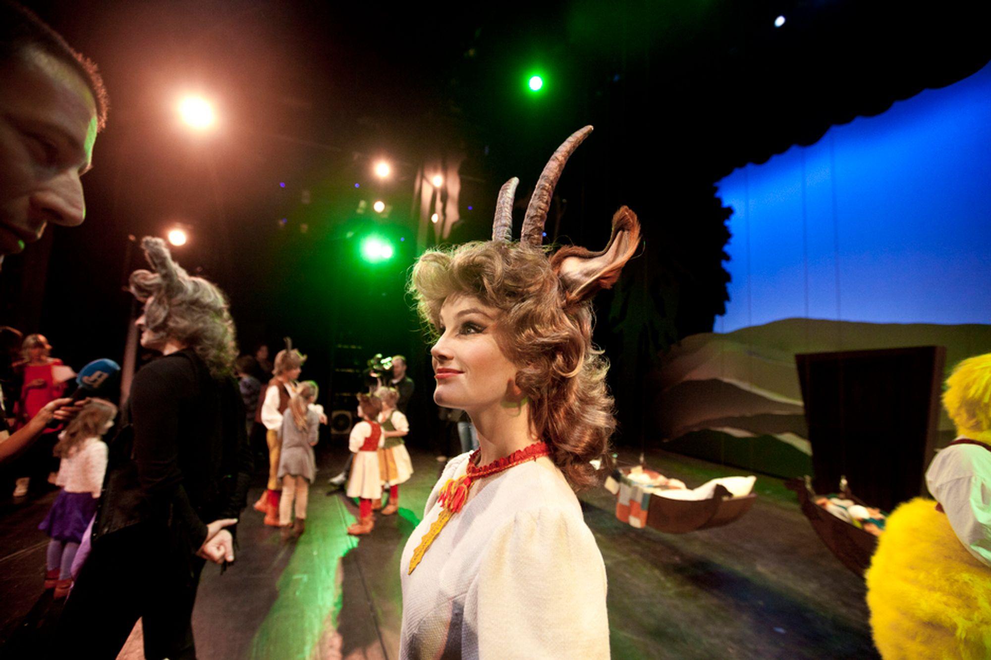 ROLLEKONTROLL: I it-systemet ser man rollelisten som blant annet består av geitemamma, 1. høne, 2. høne, væren, gammelsøya, grisen, bjørnen og en rekke musikere, statister, dansere og administrasjon.