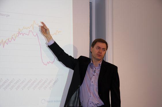 Norsk Industris konjunkturrapport legges frem 270111