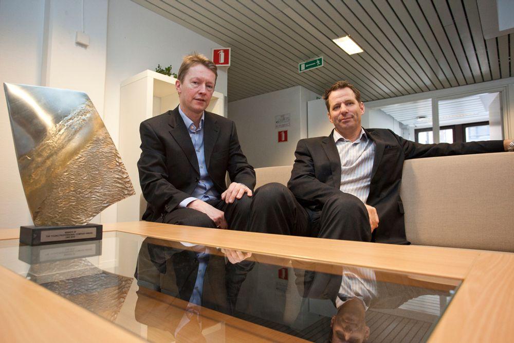 VIL EROBRE VERDEN: Rystad Energy vil med sin UCube-database påvirke industri og politikere på verdensbasis. Fra venstre: Arne Gulbrandsen og Jarand Rystad.
