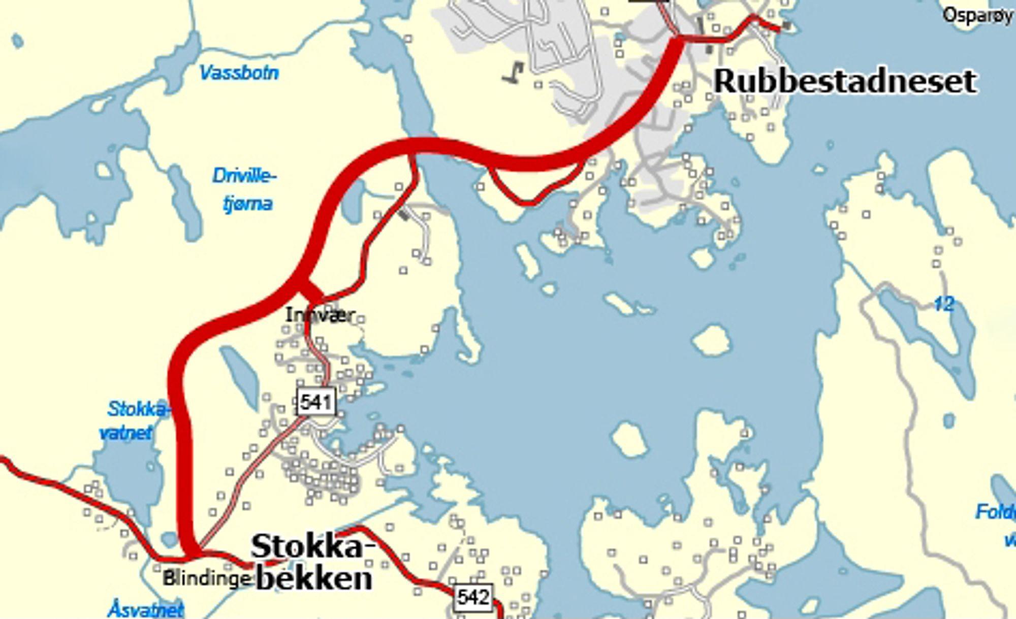 De som vil prosjektere og bygge denne vegen må gi anbud innen 20. september. Ill.: Statens vegvesen