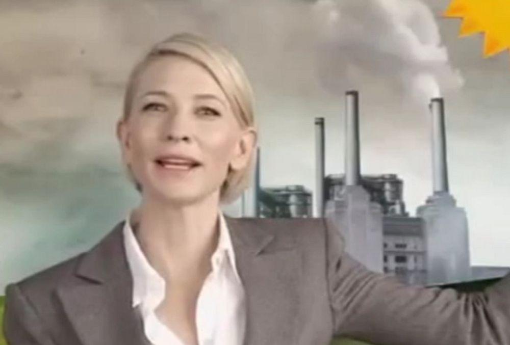 SIER JA: Hun ønsker karbonskatt i Australia, skuespiller Cate Blanchett. Nå får hun kritikk fordi hun er rik nok til å betale for høyere energipriser. Klimadebatten er opphetet etter at en rapport foreslår 150 kroner tonnet i karbonskatt fra neste år.