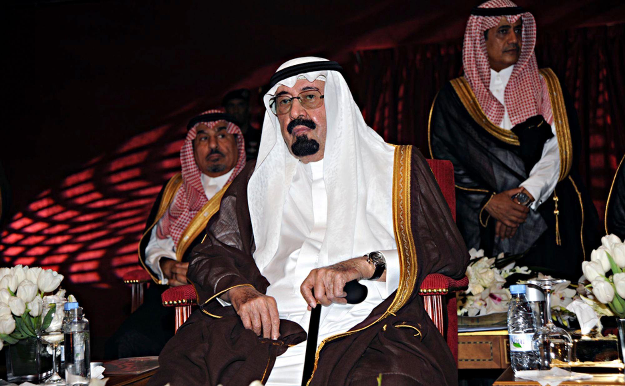 SATSER: Kong Abdullah av Saudi Arabia vil satse tungt på kjernekraft for å møte landets økende kraftbehov, ifølge en av hans tjenestemenn.