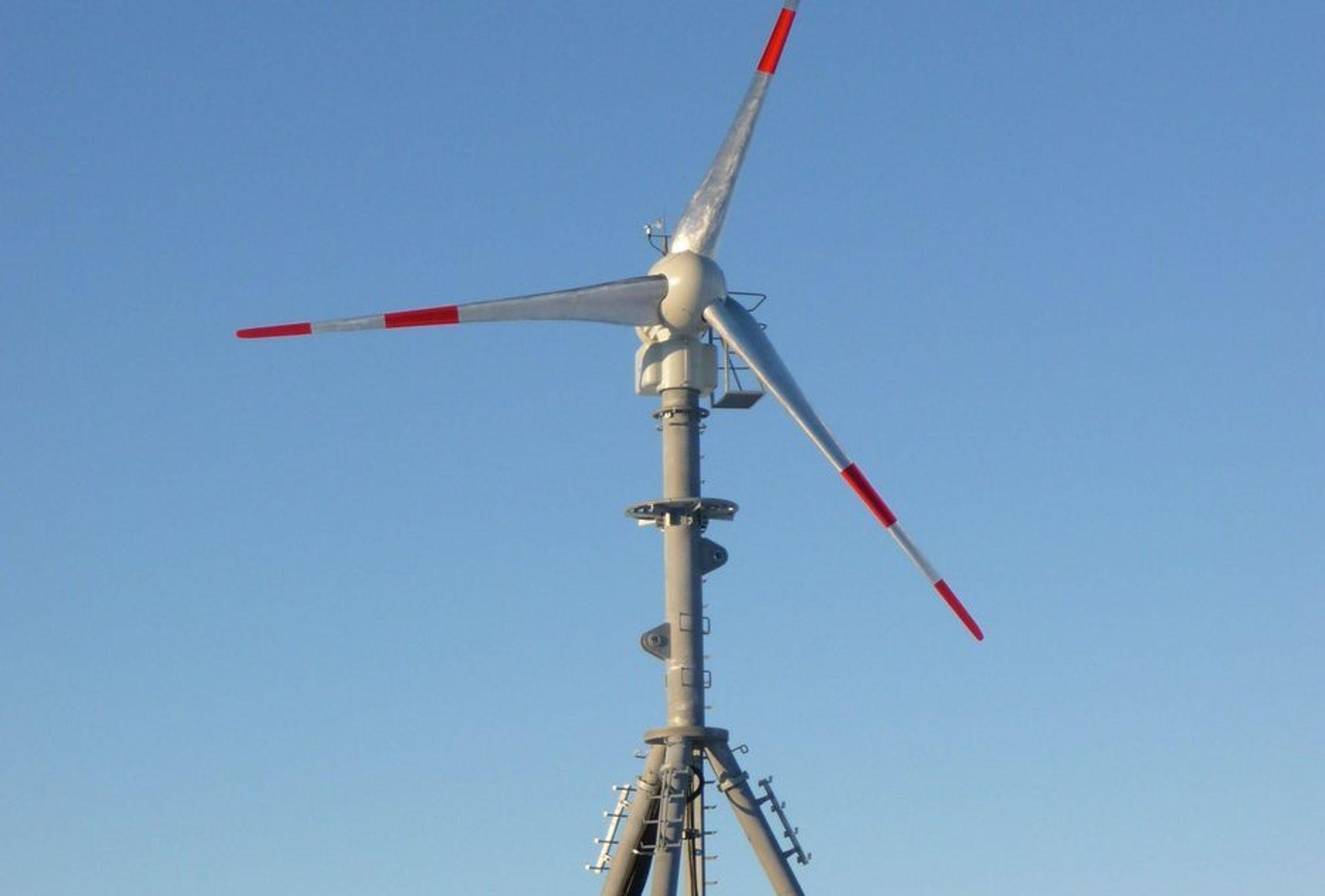 VINDKRAFT I ANTARKTIS: Slik ser den anbefalte vindmøllen som kan settes opp ved den norske forskningsstasjonen i Dronning Maud Land ut.